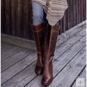 Born Poly tall leather riding boot brown size 8.5